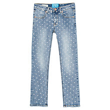 Buy Mango Kids Girls' Polka Dot Denim Jeans, Blue Online at johnlewis.com