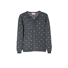 Buy Mango Kids Girls' Mini Pom Pom Cardigan Online at johnlewis.com