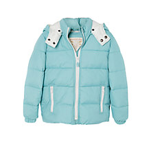 Buy Mango Kids Girls' Detachable Hood Quilted Coat Online at johnlewis.com
