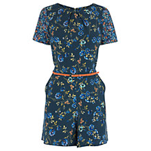 Buy Oasis Patched Floral Playsuit, Multi/Blue Online at johnlewis.com