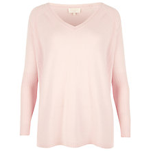 Buy Ted Baker V-Neck Cashmere Sweater, Baby Pink Online at johnlewis.com