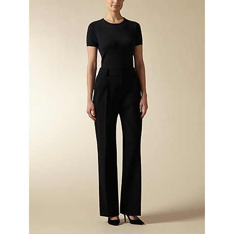 Buy Jaeger Pleat Front Trousers, Black Online at johnlewis.com