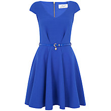 Buy Closet Belted Skater Dress, Blue Online at johnlewis.com