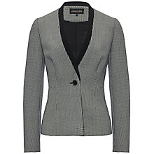 Buy Jaeger Puppytooth Jacket, Black / Ivory Online at johnlewis.com
