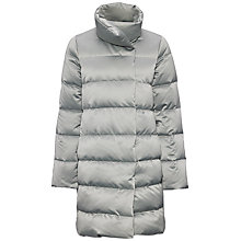Buy Jaeger Long Stretch Satin Quilted Coat Online at johnlewis.com