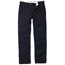 Buy Fat Face Clean Tapered Stripe Trousers, Navy Online at johnlewis.com