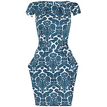 Buy Closet Wallpaper Print Tie Back Dress, Teal Online at johnlewis.com