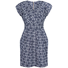 Buy Closet Cross Over Print Dress, Navy Online at johnlewis.com