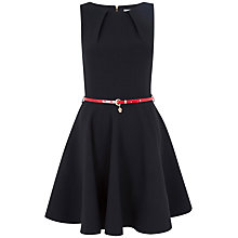 Buy Closet Belted Flare Dress, Black Online at johnlewis.com