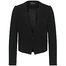Buy Jaeger Bi Stretch 1 Button Jacket, Black Online at johnlewis.com