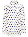 Sugarhill Boutique Love Blouse, Cream/Navy