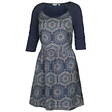 Buy Fat Face Wells Hexagon Dress, Navy Online at johnlewis.com