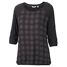 Buy Fat Face Embroidered Front T-Shirt, Phantom Online at johnlewis.com