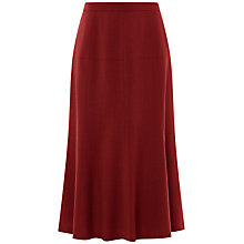 Buy Jaeger Flare Flannel Skirt, Winter Berry Online at johnlewis.com