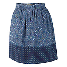 Buy Fat Face Austell Morocco Geo Skirt, Navy Online at johnlewis.com