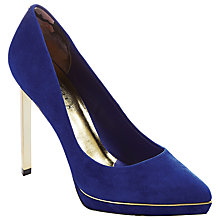 Buy Ted Baker Nydea Leather High Heeled Court Shoes Online at johnlewis.com