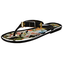 Buy Ted Baker Caszia Bow Detail Jelly Flip Flops Online at johnlewis.com