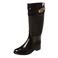 Buy Ted Baker Berklean Low Block Heeled Knee Boots, Black Online at johnlewis.com