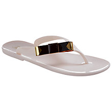 Buy Ted Baker Caszia Flat Bow Detail Sandals, Cream Online at johnlewis.com