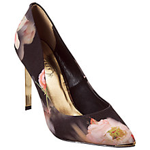 Buy Ted Baker Saeber Satin Court Shoes, Black Multi Online at johnlewis.com