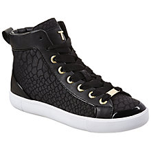 Buy Ted Baker Calisti Printed High Top Trainers Online at johnlewis.com