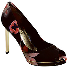 Buy Ted Baker Phhylis Satin Peep Toe Court Shoes, Multi Online at johnlewis.com
