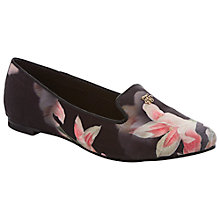Buy Ted Baker Jaday Satin Ballerinas, Pink/Black Online at johnlewis.com