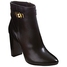 Buy Ted Baker Micka Leather Ankle Boots, Black Online at johnlewis.com