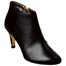 Buy Ted Baker Tanalli Leather Ankle Boots, Black Online at johnlewis.com