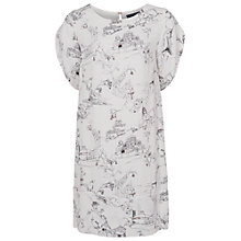 Buy French Connection Anastasia Crepe Tunic Dress, Winter White Multi Online at johnlewis.com