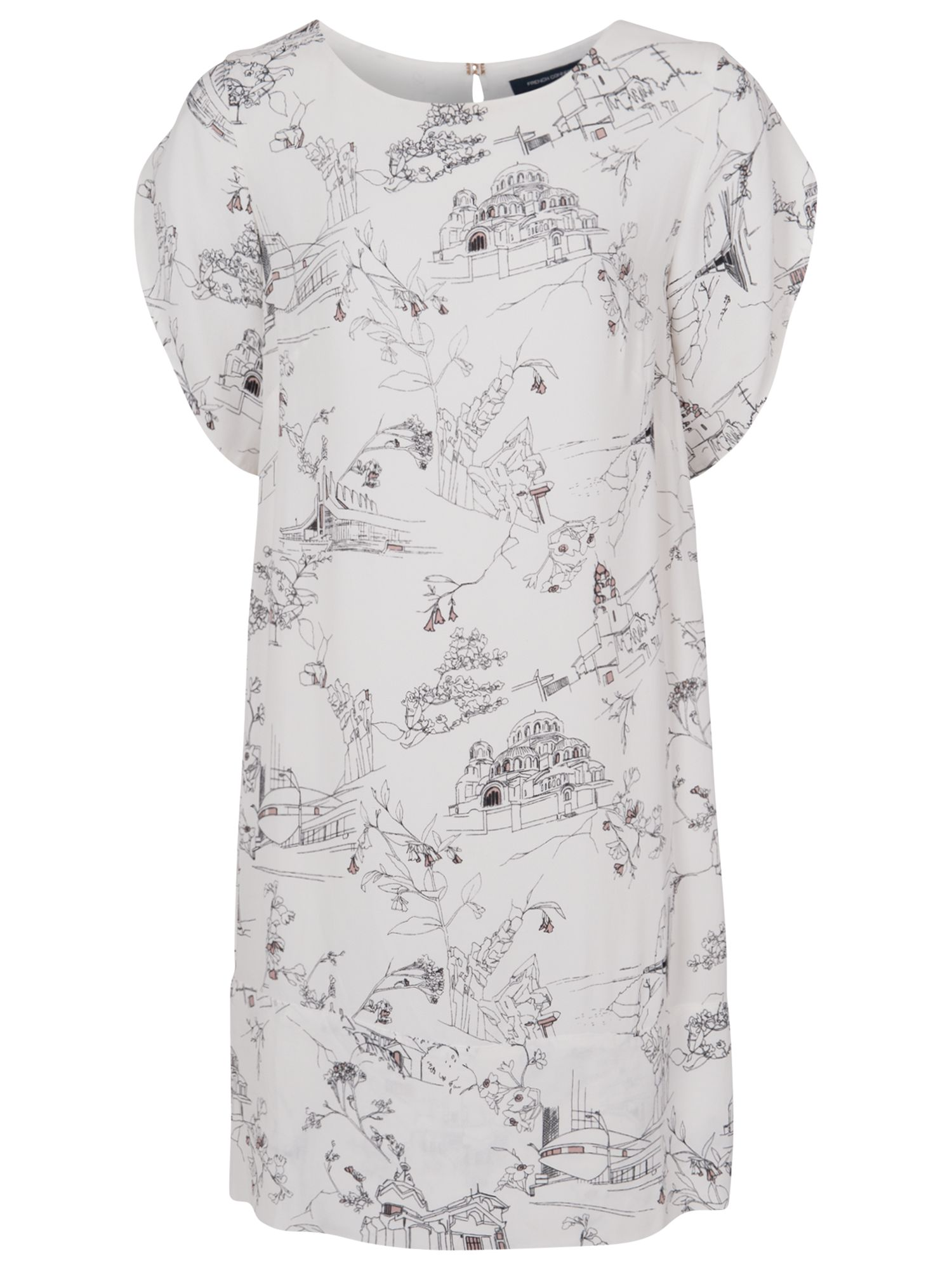 french connection anastasia crepe tunic dress winter white multi, french, connection, anastasia, crepe, tunic, dress, winter, white, multi, french connection, 10|8, clearance, womenswear offers, womens dresses offers, women, inactive womenswear, new reductions, womens dresses, special offers, 1667162
