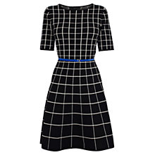 Buy Coast Kim Mono Check Dress, Black Online at johnlewis.com