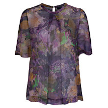 Buy French Connection Cherry Orchard Box Pleat Top, Multi Dark Online at johnlewis.com