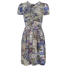 Buy French Connection Cherry Orchard V-Neck Dress, Multi Light Online at johnlewis.com