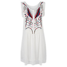 Buy Mango Ethnic Embroidered Dress, Natural White Online at johnlewis.com