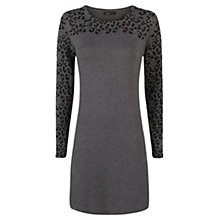 Buy Mango Animal Print Dress, Medium Grey Online at johnlewis.com