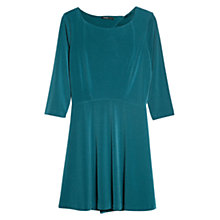 Buy Mango Open Back Dress, Dark Green Online at johnlewis.com