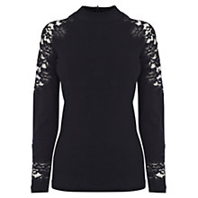 Buy Coast Santy Knitted Top, Black Online at johnlewis.com