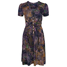 Buy French Connection Cherry Orchard V-Neck Dress, Multi Dark Online at johnlewis.com