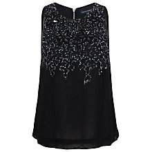 Buy French Connection Angelfire Sparkle Round Neck Top, Black Online at johnlewis.com
