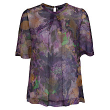 Buy French Connection Cherry Orchard Georgette Top, Multi Online at johnlewis.com