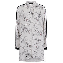 Buy French Connection Anastasia Crepe Collared Top, Winter White Multi Online at johnlewis.com