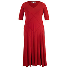 Buy Chesca Short Sleeved Jersey Lined Dress, Red Online at johnlewis.com