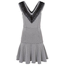 Buy French Connection Texture V-Neck Dress, Winter White Online at johnlewis.com