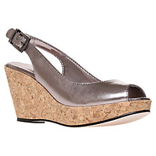 Buy Carvela Kex Wedge Sandals, Gunmetal Online at johnlewis.com