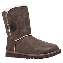 Buy UGG Bailey Button Bomber Boots, Chocolate Online at johnlewis.com
