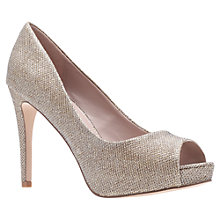 Buy Carvela Lara Peep Toe Court Shoes, Gold Online at johnlewis.com