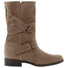 Buy Dune Reo Suede Buckle Detail Calf Boots Online at johnlewis.com
