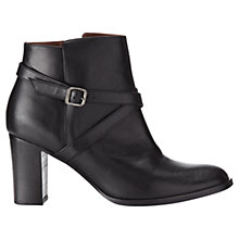 Buy Jigsaw Alessia Cross Strap Leather Ankle Boots Online at johnlewis.com