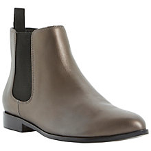 Buy Dune Padlock Leather Pointed Toe Flat Chelsea Boots Online at johnlewis.com